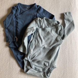 Pair of H&M Infant Wrap Bodysuits