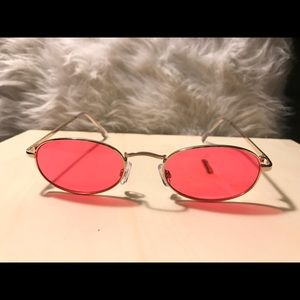 Accessories - Vintage metal oval sunglasses