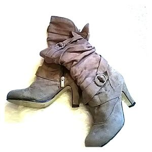 Taupe Heel Boots