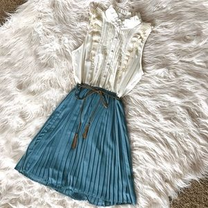 Vintage Inspired Pleated Dress