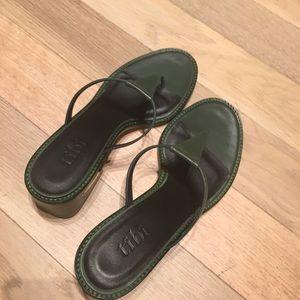 Brand new Tibi Eliza Seta Calf Leather Sandals