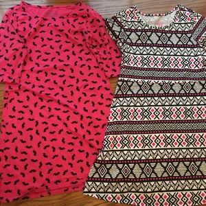 2 Girls size 10/12 faded glory dresses
