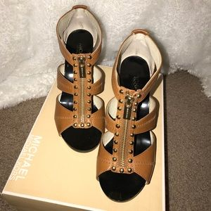 Michael Kors Berkley T-Strap Evening Sandals