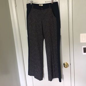 Anthropologie Elevenses charcoal gray/blue trouser