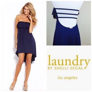 Laundry Shelli Segal Strapless Open Back Dress