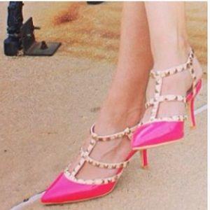 Rockstud Valentino Torrid hot pink heels