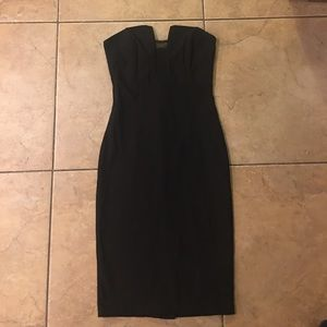 LuLu's size small black strapless dress
