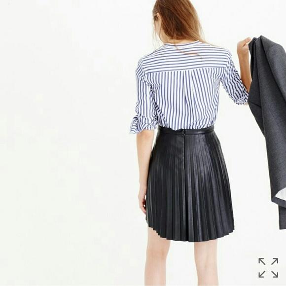 9c2e551bed45 J. Crew Skirts | Jcrew Faux Leather Pleated Mini Skirt | Poshmark