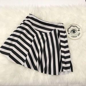 Zara Striped Skater Miniskirt