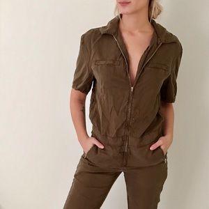 Vintage zip up jumpsuit