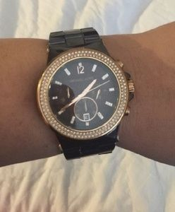Authentic Michael Kors Chronograph Ceramic Watch