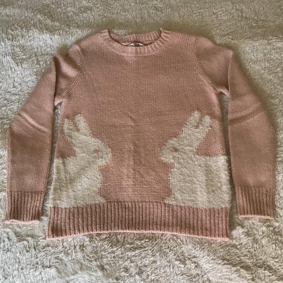 e327acc984c2e5 LC Lauren Conrad Sweaters - Light pink sweater with rabbit design