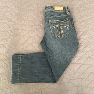 Seven 7 capris size 27 dark wash blue