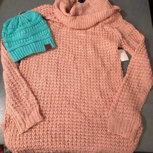 Rue 21 Confetti cowl neck sweater