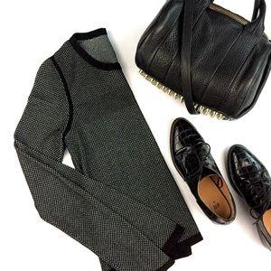 RAG & BONE Mesh Patterned Knit Sweater Top \\ Sz S