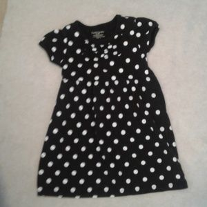 Black And White Polka Dress Ruffles Girls 4T