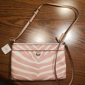 NWT Coach Peyton Pink Zebra Bag