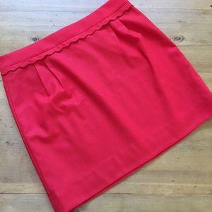 J. Crew Red Skirt