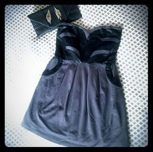 Bebe Kardashians Gray Strapless Dress