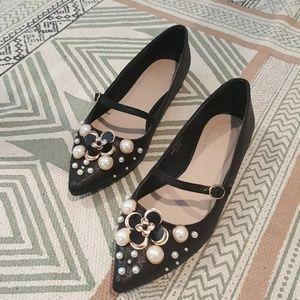 Asos Pearl Embellished Ballet Flats