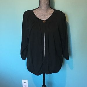Eddie Bauer Black Cardigan XXL Lightweight Plus