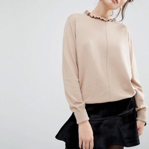 ASOS Willow and Paige Frill Collar Sweater