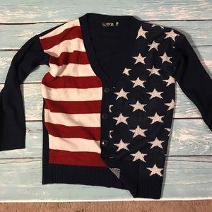 Sweaters - Preppy American Flag Cardigan
