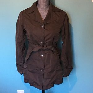 Levi's Trench Short Coat Jacket 12 14 Brown