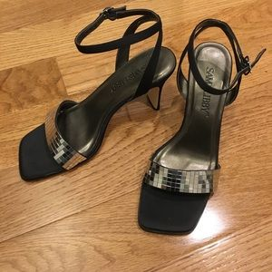 Sam & Libby Mirrored Ankle Strap Heels