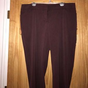 Size 18 dress pants. Burgundy color