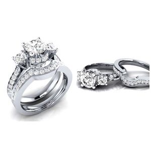Jewelry - ✨New! .925 Silver Plated Bridal Set