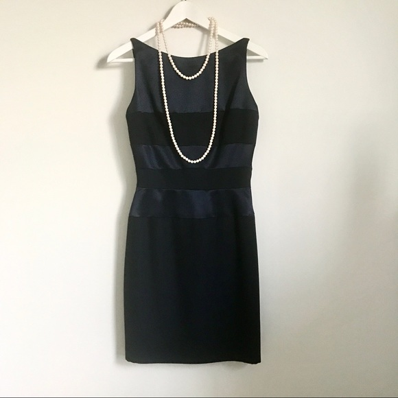 GiGi New York Dresses & Skirts - Gigi by Gillian Navy Blue Satin Sleeveless Dress S