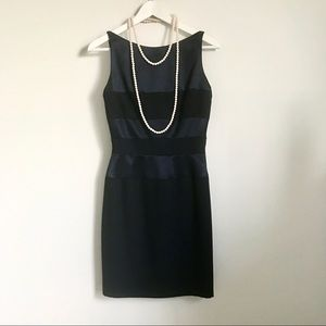 Gigi by Gillian Navy Blue Satin Sleeveless Dress S