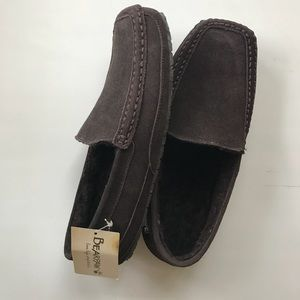 NEW BearPaw Moccasins Loafers brown Mens sz - 12