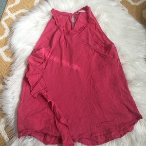 light red zara w&b collection tank top size M