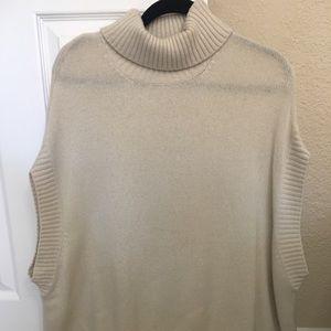 BCBG tan cowl sweater. Size small.