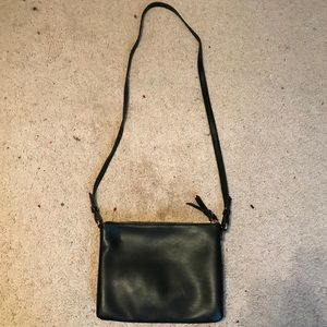 Black Old Navy Faux Leather Crossbody Purse