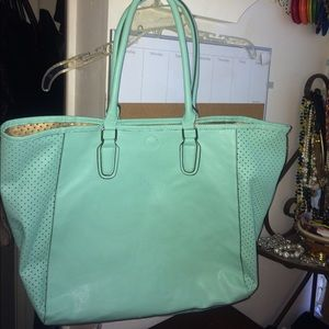 Merona For Target Mint Laser Cut Tote