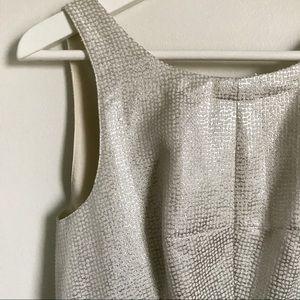 Club Monaco Dresses - Club Monaco Silver Jacquard Lana Dress Size 2