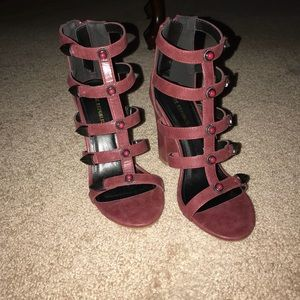 Wine colored heels