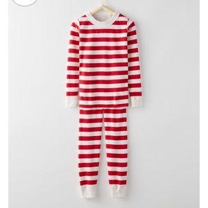 Hanna Anderson Size 150 cm Red White Stripe LJs