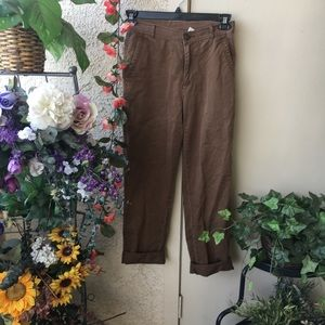 High Waisted Brown Trousers