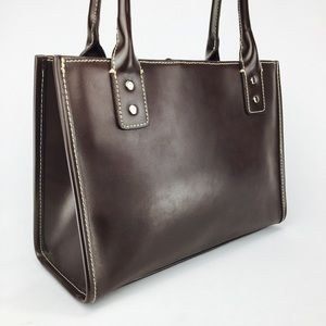 WILSONS LEATHER Brown Leather Tote!