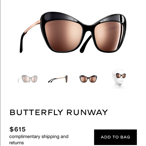 5fad86673e 2017 18k butterfly Chanel Sunglasses