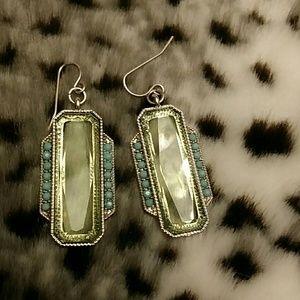 Jewelry - Green glass earrings