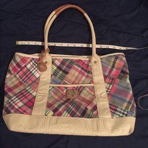 Liz Claiborne plaid purse
