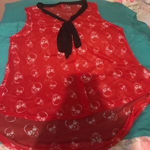 Tops - Red skull blouse