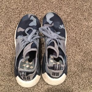huge selection of af6c1 46350 adidas Shoes - EUC Adidas Nmd Blue camo size 7