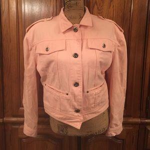 Vintage 80's Pink Jean Jacket