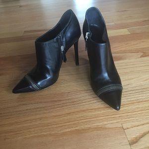 All saints black bootie heels